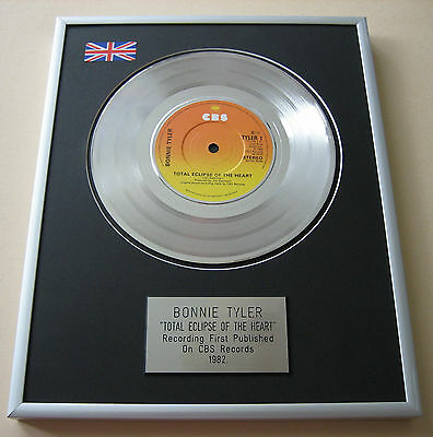 BONNIE TYLER Total Eclipse Of The Heart PLATINUM SINGLE DISC PRESENTATION