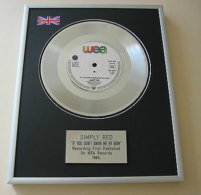 SIMPLY RED If You Don't Know Me By Now PLATINUM SINGLE DISC PRESENTATION