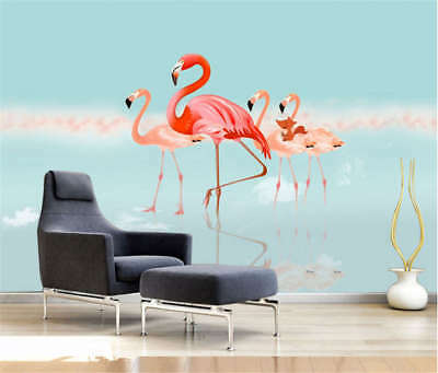 Sober Cute Red Swan 3D Full Wall Mural Photo Wallpaper Printing Home Kids Decor