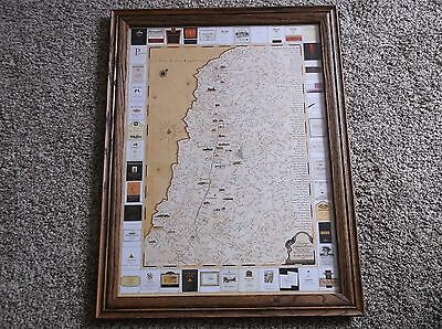 """2012 Nappa Valley Map """"Vintage Expedition Wineries of the Napa Valley"""" Framed"""