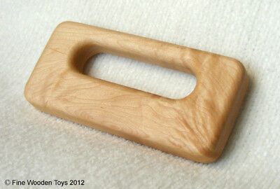 NEW Waldorf Handle Rattle, Handcrafted Wooden Baby Toy, natural teether, USA
