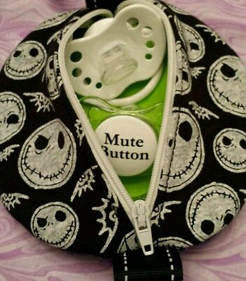 NIGHTMARE PACIFIER POUCH POD Zippered Case! Many Uses Fun Accessory!