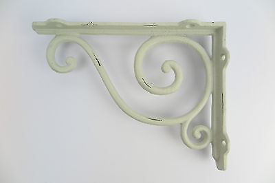 Shelf Corner Cast Iron Antique - Art Nouveau - Look White Shabby Chic