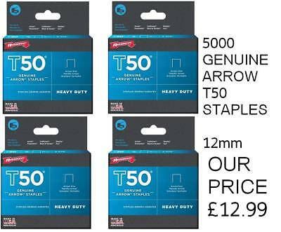 ARROW T50 STAPLES PACK OF 5000 - 12mm - PACK OF 5000