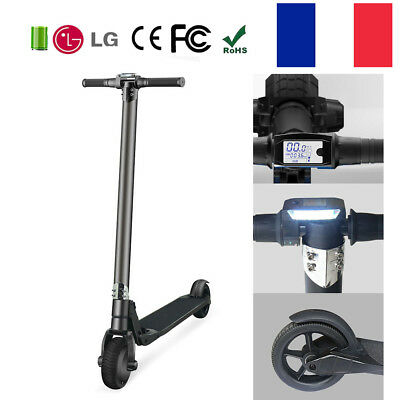 MOOVWAY Trottinette Electrique Pliable Booster Scooter 250W 6600mAh Adulte Noir