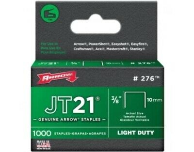 Arrow JT21 T27 Staples 10mm 3/8in Box 5000 ARRJT2138
