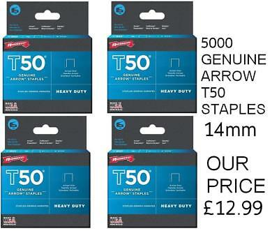 Arrow T50 Staples 14mm (9/16in) Pack 5000 (4 x 1250)
