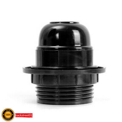 Black Period Style Screw E27 LED Light Bulbs Lamp Holder Base Pendant Socket TBU