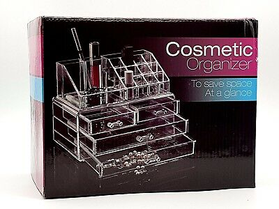 Cosmetic Make Up Clear Acrylic Organiser 20 Sections with Drawers, R1.999