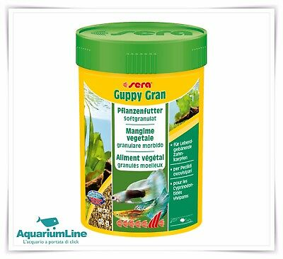 Sera Guppy Gran 100ml - Microgranulare soft per Guppy
