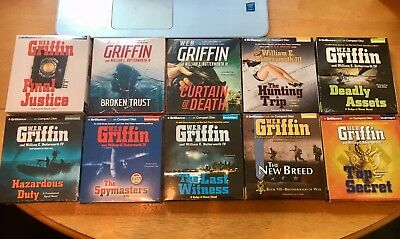 10 BRAND NEW unabridged audio books on CD by W.E.B. GRIFFIN - GIFT QUALITY ITEM!