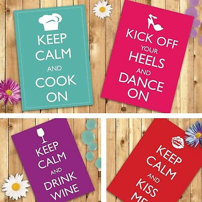 Keep Calm Personalised Poster Any Colour Any Phrase Various Sizes FREE Draft