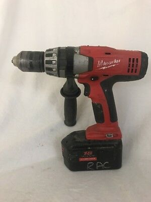 """Milwaukee 1/2"""" Hammer Drill 0824-20 With 18 Volt Battery"""