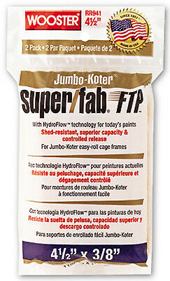 Paint Roller Cover, 2-Pack, Jumbo-Koter, Super Fab, FTP, 4-In. x 3/8-In.