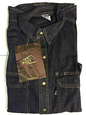 Black Stallion Revco FS8-DNM 8oz FR denim work Shirt (XLARGE)