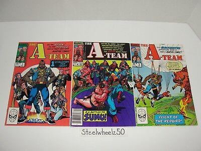 The A-Team #1-3 Comic Lot Marvel 1984 2 TV Show Mr T Hannibal Face Jim Salicrup