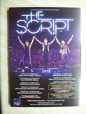 The Script, 2018  A5 UK tour concert poster / flyer