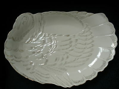 "NEW Lenox Holiday Thanksgiving 17"" Turkey Platter Fine Ivory China PERFECT"