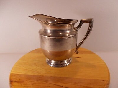 Vintage Poole Silver Co. EPNS Water Pitcher 7-1/2 Inches Tall 5 Inches Wide