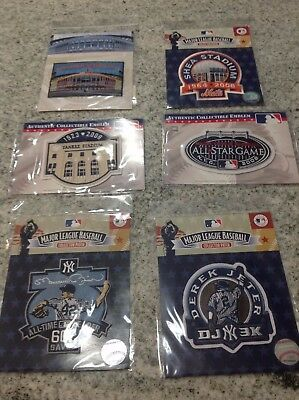 Lot of New York Yankees and Mets Commemorative Patches - Jeter, Mariano, Stadium