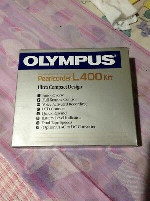 Olympus Pearlcorder Micro Tape Recorder - L400 complete kit-Brand New - Vintage.