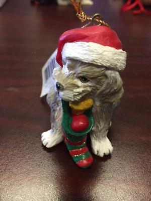 Christmas Dog Ornament With Stocking Hat Terrier