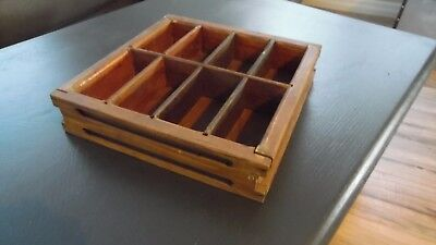 "Vintage Wood SHADOW BOX Cash Drawer TRAY Unusual 11"" x 11"" GREAT OLD LOOK TO IT!"