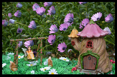Fairy Garden Kit | House With Swing Set Miniature Fairy Squirrel