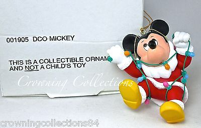 Grolier Mickey Mouse Santa Claus Disney Ornament in Christmas Lights DCO 001905