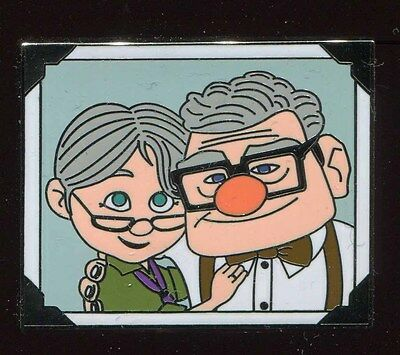 UP Carl and Ellie Thru The Years Booster Old Couple Disney Pin 106871