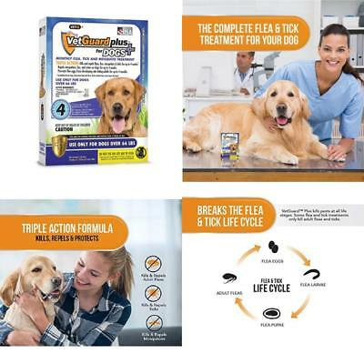 Vetguard Plus Flea &Amp; Tick Treatment For X-Large Dogs, Over 66 Lbs, 4 Month S