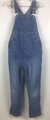Motherhood Maternity Womens Overalls Sz Small Cropped Jeans Denim Medium Wash