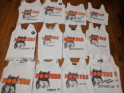 Official Hooters Uniform Tank Tops -choose from different cities and sizes- used