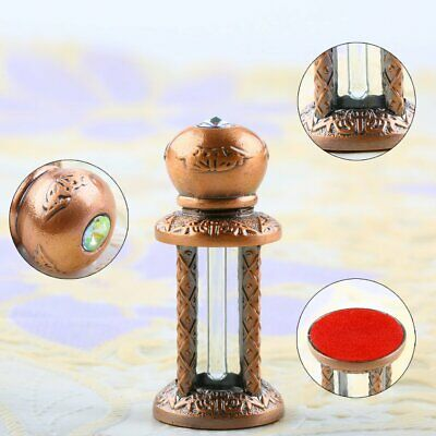 3ml Retro Copper Empty Metal Glass Refillable Perfume Bottle Wedding Decor Gift