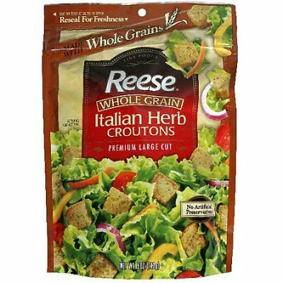 Reese Whole Grain Croutons, Italian Herb, 5-Ounce Packages (Pack of 12)