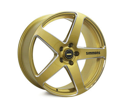 AUDI  A4 2008 TO CURRENT WHEELS PACKAGE: 20x8.5 20x10 Simmons FR-CS Gold and Kum
