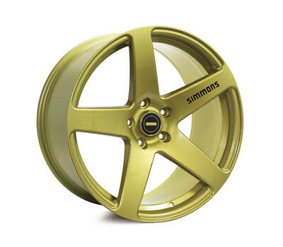 BMW 6 SERIES E63, E64 WHEELS PACKAGE: 20x8.5 20x10 Simmons FR-C Full Gold and Ku