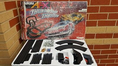 Afx Aurora Thunderloop Thriller Set With Two Cars Nissan And Trans Am