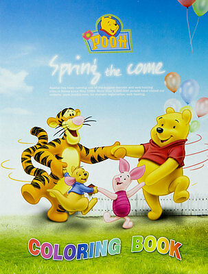 Kids Children Colouring Coloring & Sticker Book Gift Pooh