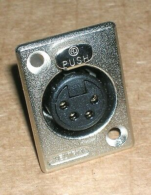 One Neutrik NC4FP-1 ~ four pin female panel mount XLR - New-Old-Stock