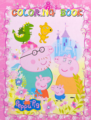 Kids Children Colouring Coloring & Sticker Book Gift Peppa Pig