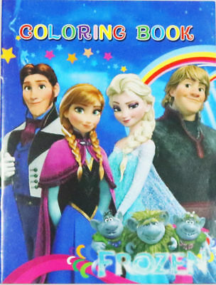 Kids Children Colouring Coloring & Sticker Book Gift Frozen