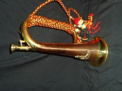 Amazing Bugle Bugles W/case,mp,cord,batch Awesome Manufacturer Trumpets.