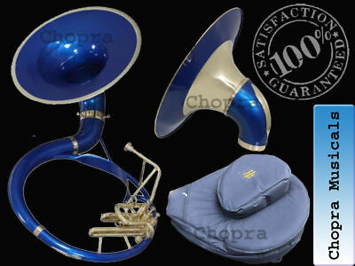 """SOUSAPHONE 22"""" Bb """" Chopra """" Painted 3 VALVE WITH BAG MOUTH PIECE Free"""