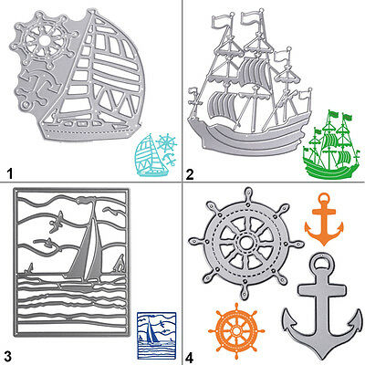 Boat Ship Metal Cutting Dies Stencil DIY Scrapbooking Album Card Embossing Gift