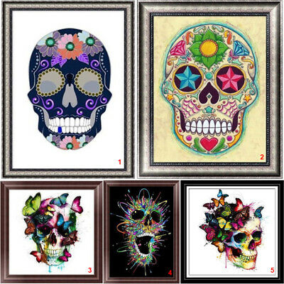 Skull DIY 5D Diamond Painting Embroidery Cross Stitch Home Decor Needlework