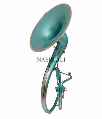 """Birthday Gift For Father Sousaphone Green Lacquer 21"""" Bell With Carry Bag And Mp"""