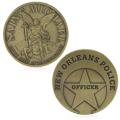Saint Michael New Orleans Police Commemorative Coin Challenge Collection Gifts
