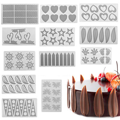 Various Shape DIY Silicone Chocolate Cookie Baking Mould Mold Jelly Baking Tray