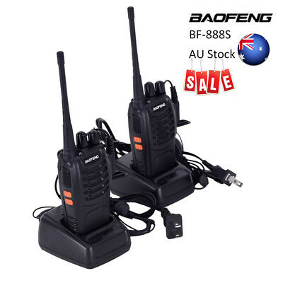 2x Walkie Talkie UHF 400-470MHz 5W 16CH BF-888S Portable Two-Way Radio AU Stock